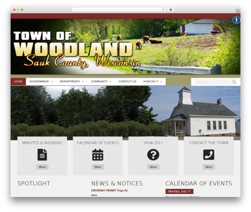 WordPress new-royalslider plugin - townofwoodland.com