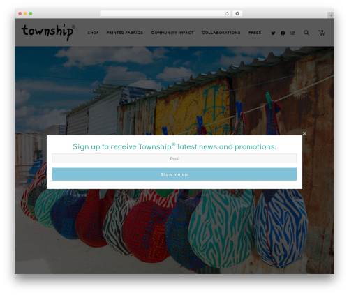Theme WordPress Atelier - township.co.za