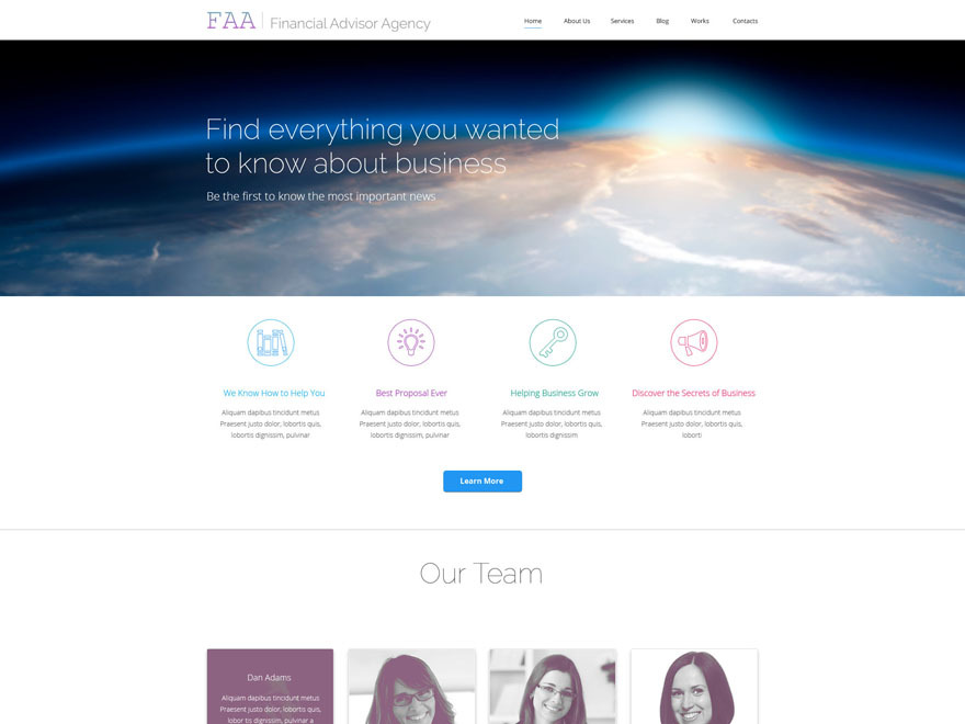 theme54936 WordPress page template