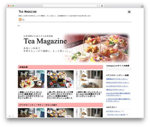 Themify Simfo WordPress theme - tea-magazine.net