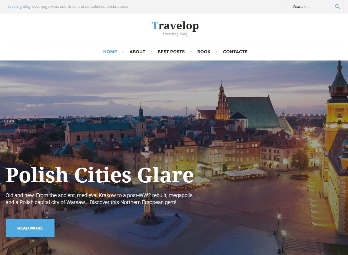 Travelop WordPress travel theme