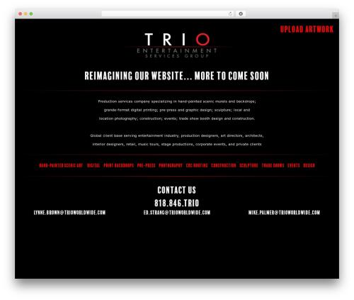 Trio WordPress theme - trioworldwide.com