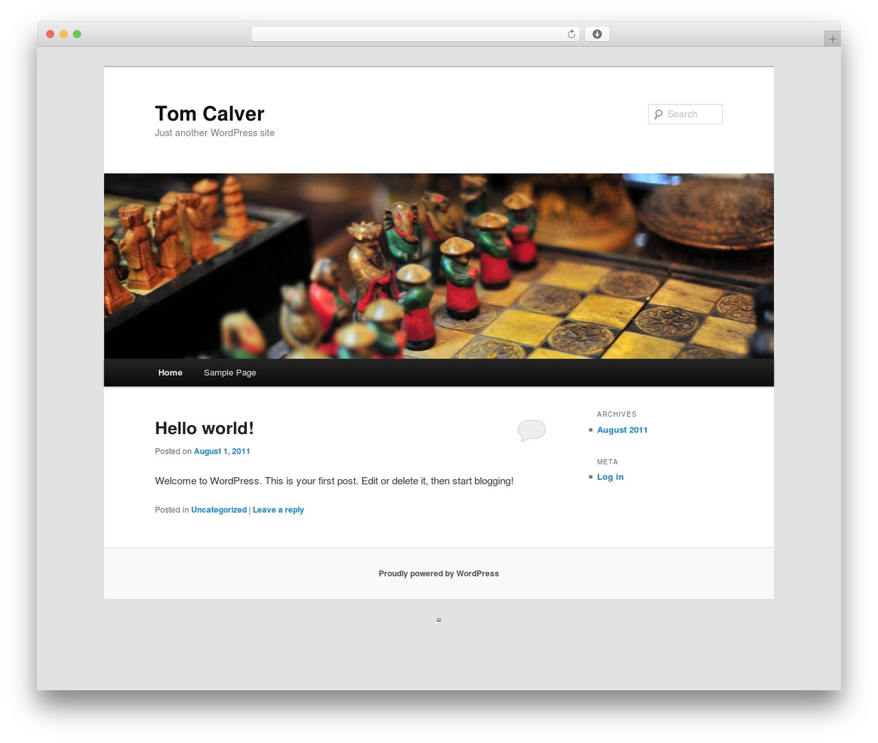 Twenty Eleven best free WordPress theme - tomcalver.com