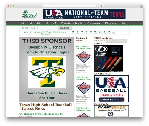 WordPress template The HTML5 Reset Theme - txhighschoolbaseball.com
