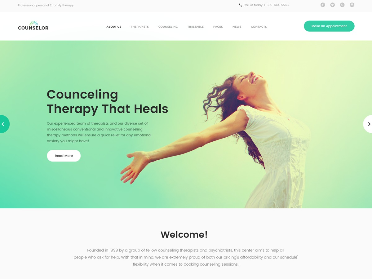 WordPress theme counselor