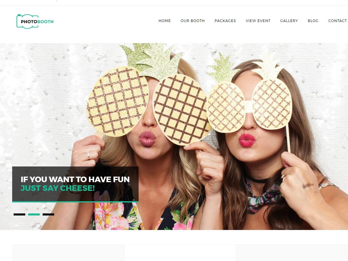 WordPress theme photobooth