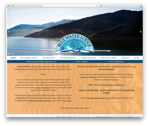 WordPress website template babelscribe14 - thebluewaterlodge.co.nz