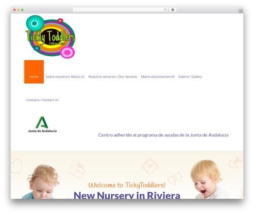 WordPress website template Fable - Children Kindergarten WordPress Theme - ticklytoddlers.com