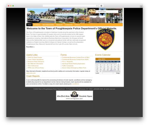 WordPress website template WP Remix - townpolice.net