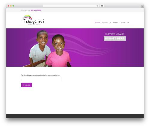 Yalu WordPress theme - tumainihomeofhope.com