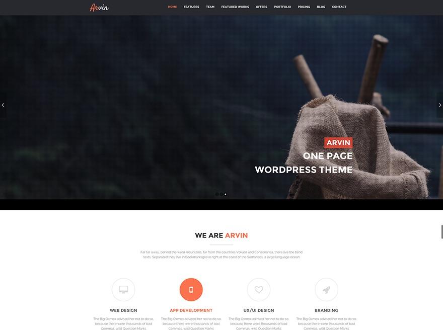 Arvin Child WordPress template