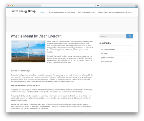 Businessweb Plus company WordPress theme - enovaenergygroup.com