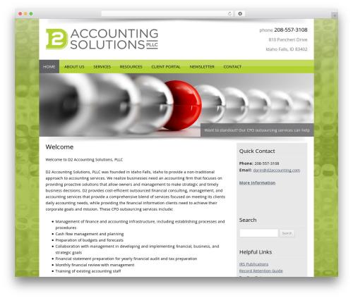 Customized template WordPress - d2accounting.com