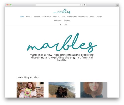 Divi WordPress page template - marblesmag.com