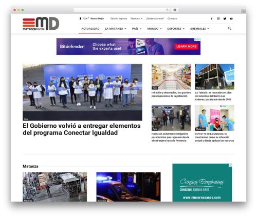 Newspaper WordPress magazine theme - matanzadigital.com