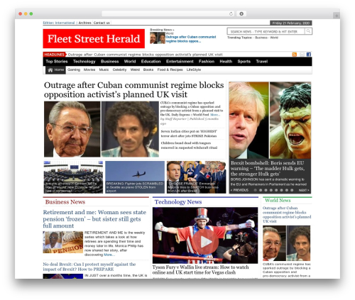 Online News Portal WordPress page template - fleetstreetherald.com