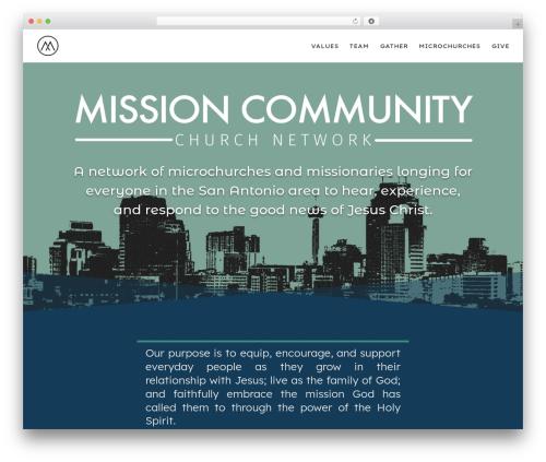 WordPress theme Divi - missioncommunitysa.com