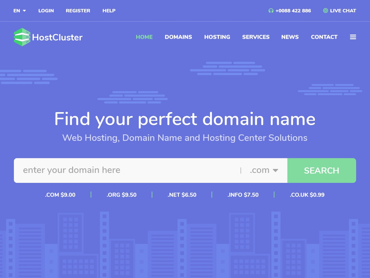 HostCluster WP template
