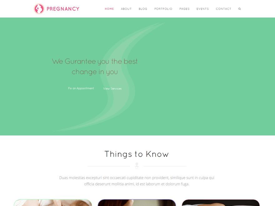 Pregnancy WordPress website template