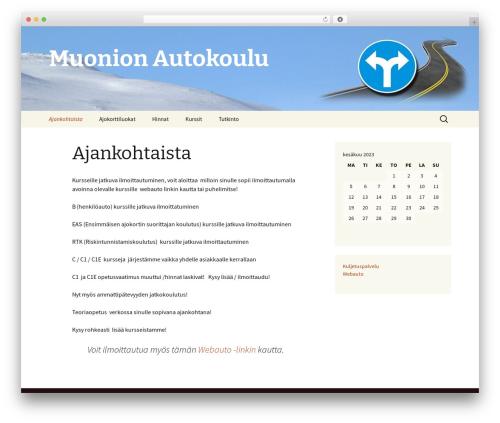 Twenty Thirteen WordPress theme - muonionautokoulu.com