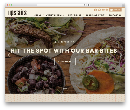 Upstairs WordPress website template - upstairsbarandlounge.com