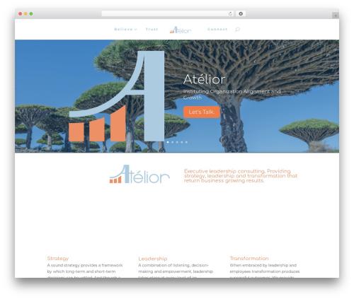 WordPress website template Divi - atelior.com