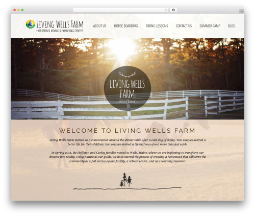 WordPress website template GeneratePress - livingwellsfarm.com
