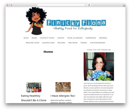 30 Day Blog Challenge WordPress blog template - finickyfiona.com