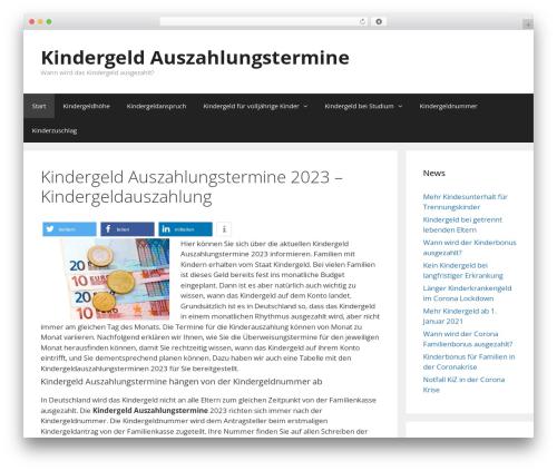 GeneratePress WordPress template free download - kindergeld-auszahlungstermine.com