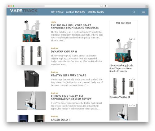 Salient template WordPress - bestportablevaporizer.com