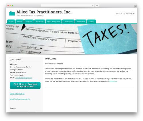 Customized WordPress theme - alliedtaxpro.com