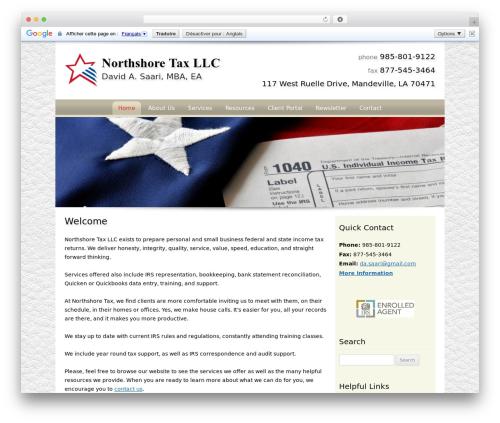 Customized WordPress website template - northshoretaxllc.com