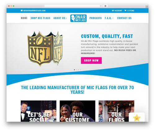 WordPress theme Divi - onairmicflags.com