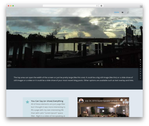 WordPress theme Divi - sandcastlesoaps.com