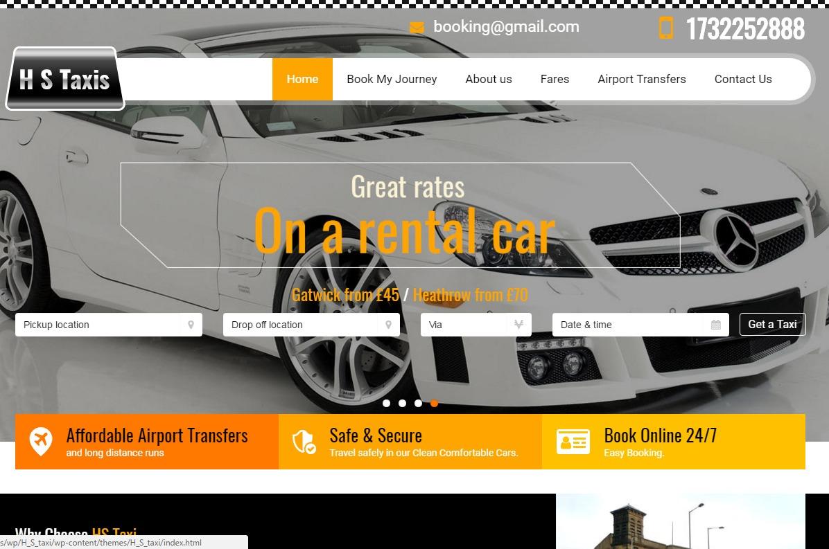 Airport Transfer WordPress theme