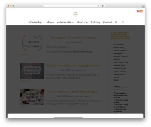 Divi theme WordPress - unamirinda.com