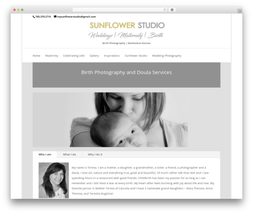 Divi WordPress photo theme - allfortheloveofmothers.com