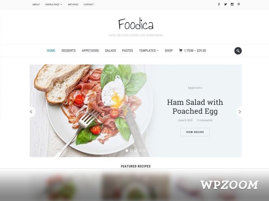 Foodica newspaper WordPress theme