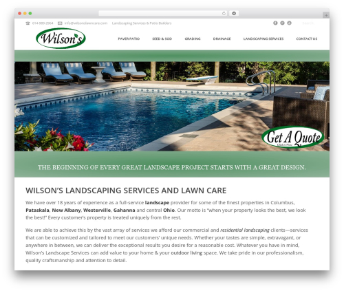 Jupiter garden WordPress theme - wilsonslawncare.com