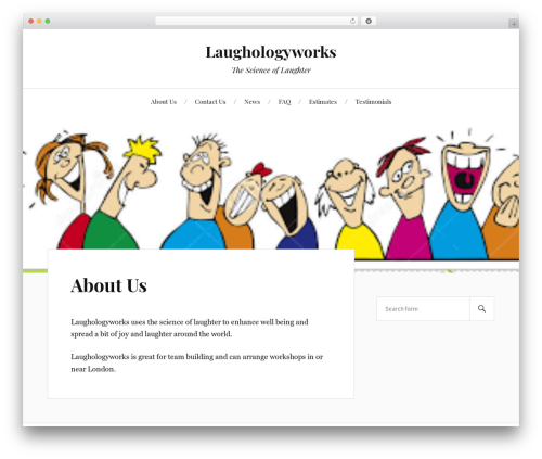 Lovecraft WordPress page template - laughologyworks.com