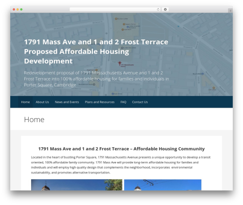 Primer free WordPress theme - 1791massave.com
