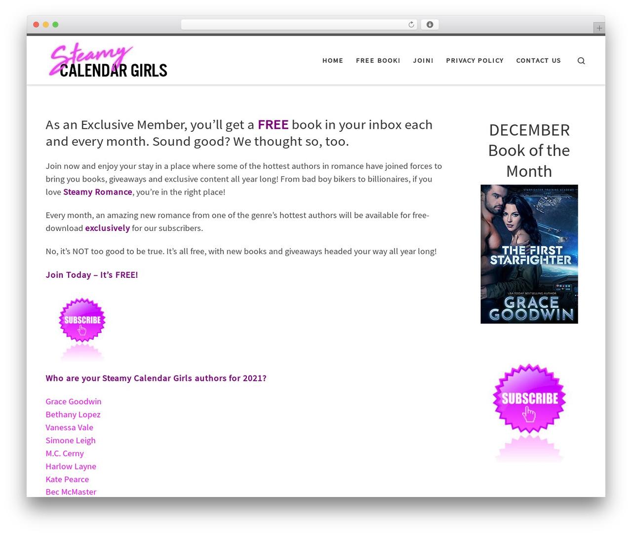 Template WordPress Customizr - steamycalendargirls.com