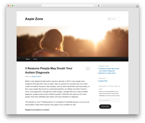 Twenty Eleven free WordPress theme - aspiezone.com