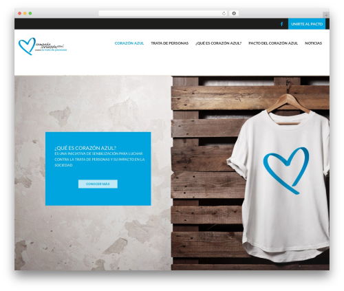 WordPress theme Charity WPL - corazonazulcostarica.com