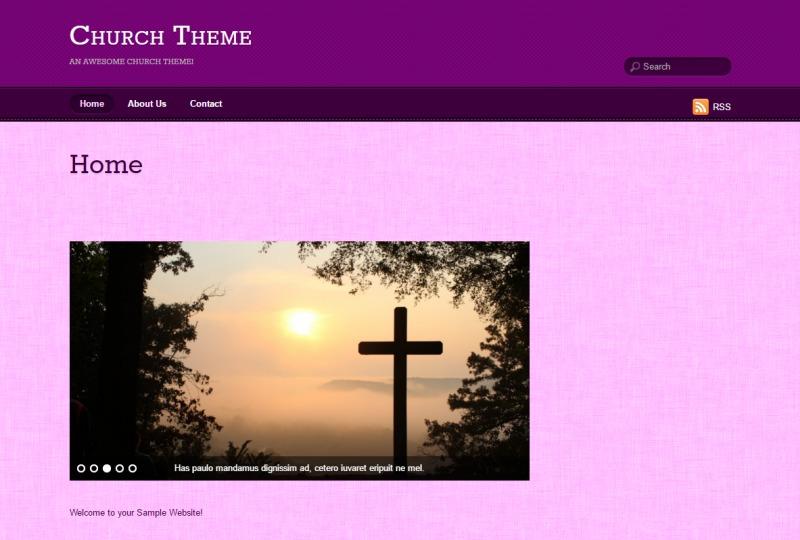 WordPress website template Suco