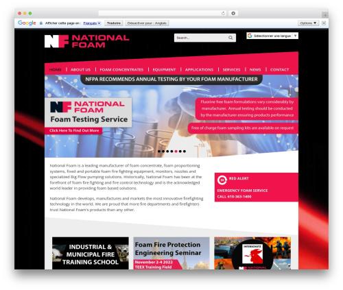Canvas theme WordPress - nationalfoam.com