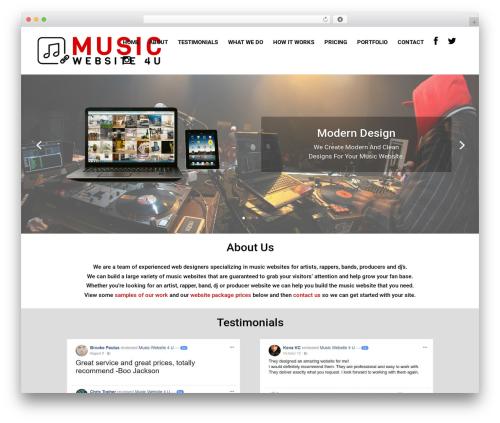 Child Theme for Divi WordPress theme design - musicwebsite4u.com