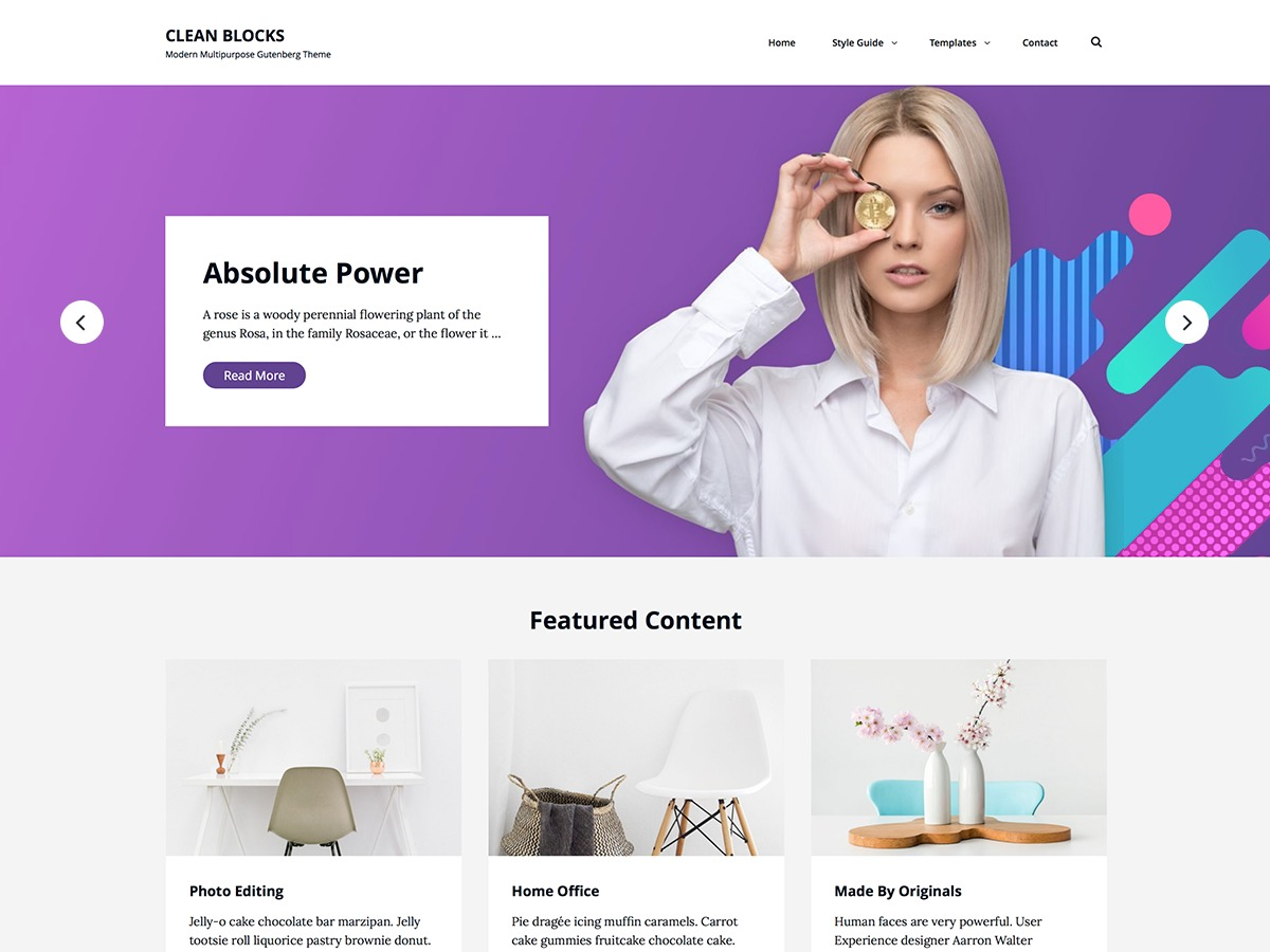 Clean Blocks personal WordPress theme