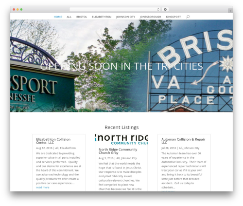 Divi WordPress template for business - openingsoontricities.com