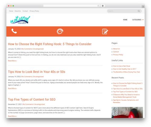 Sanitorium best WordPress theme - naturalhealthas.com